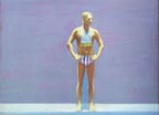 Painting of an Olympic swimmer