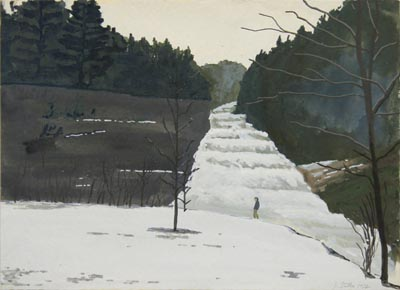 Painting of  Buttermilk Falls